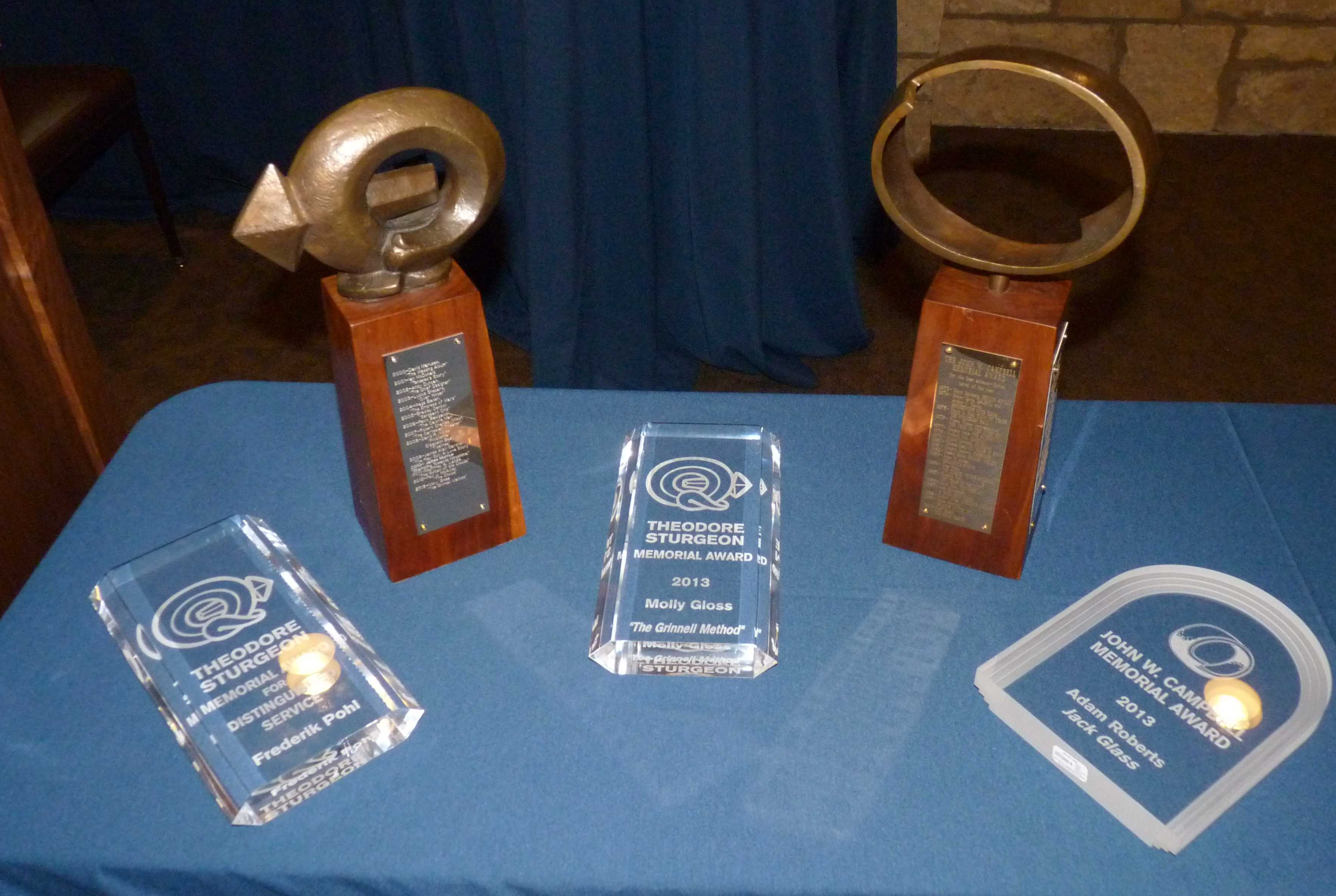 Sturgeon and Campbell Awards. Photo courtesy of C.J. Harries.