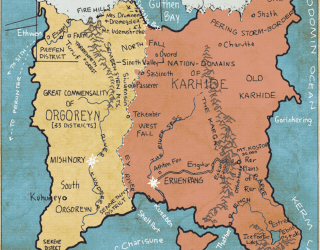 See Le Guin's Left Hand of Darkness map here