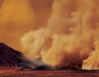 Dust Storms on Titan Spotted for the First Time
