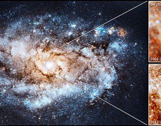 Strange, long-lasting stellar explosion births new star