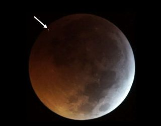A meteorite hit the moon during yesterday's total lunar eclipse
