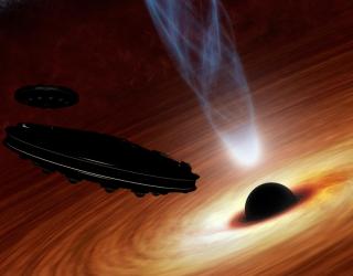 New SETI Plan: Detect Alien Starships Powered by Black Holes