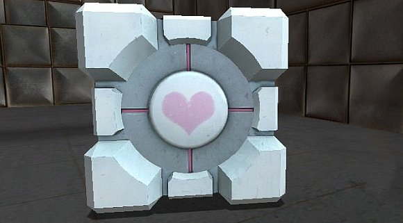 Image of the Companion Cube from Portal