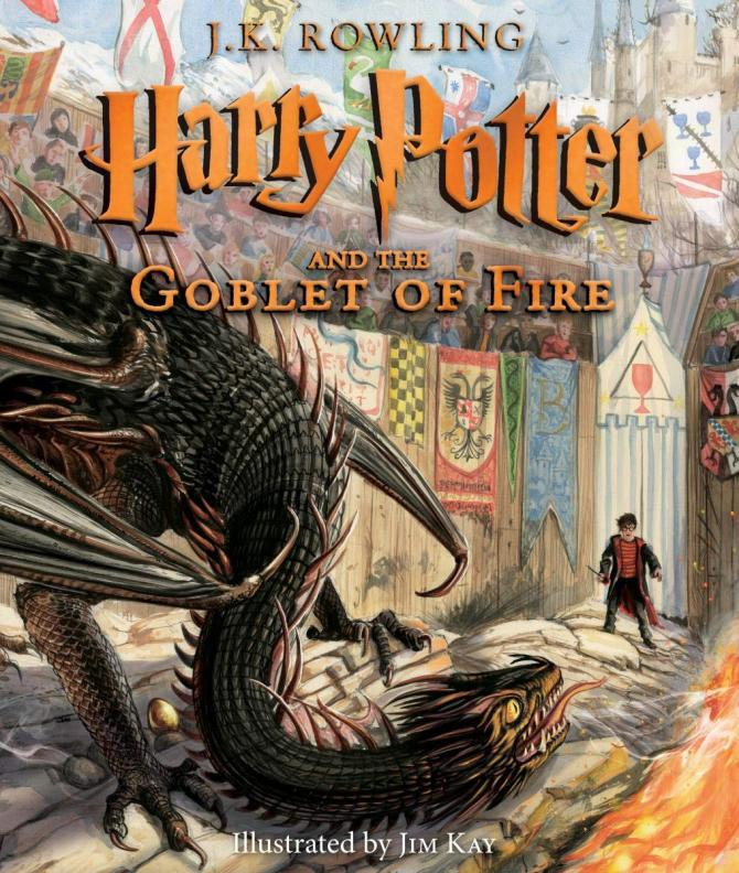 The Cover for Harry Potter and the Goblet of Fire: The Illustrated Edition